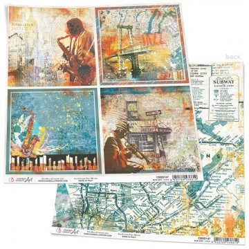 Papel Scrapbooking Blue Note Cards CIAO BELLA 30x30 cm