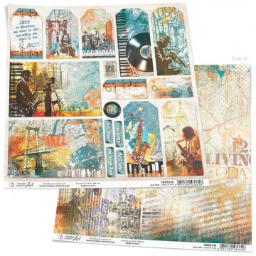 Papel Scrapbooking Blue Note Cards & Tags CIAO BELLA 30x30 cm
