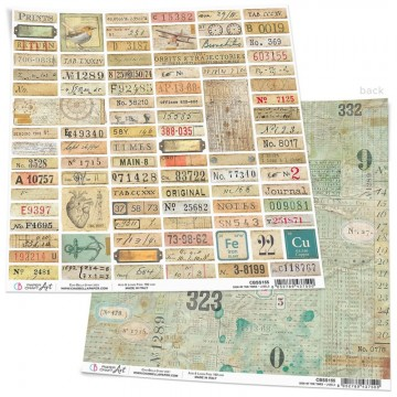 Papel Scrapbooking Sign of the Times Labels CIAO BELLA 30x30 cm