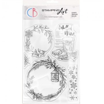 Clear Stamp Set 20x15 cm Wreaths & Mulled Wine CIAO BELLA