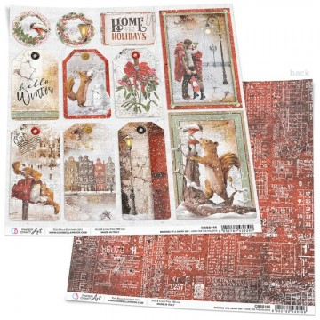 Papel Scrapbooking Home for the Holidays CIAO BELLA 30x30 cm