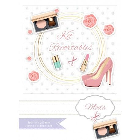 KIT RECORTABLES MODA 15 papeles