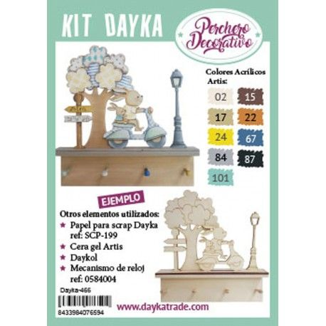 KIT DIY DAYKA PERCHERO CONEJO MOTO