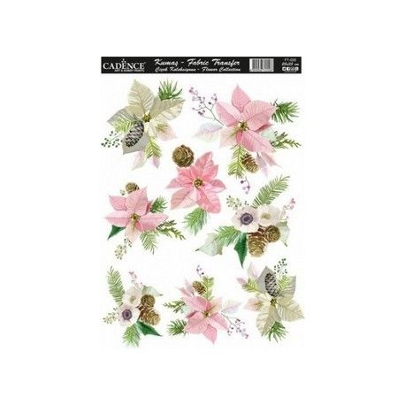 Transfer TELA 25x35 FLOWERS I
