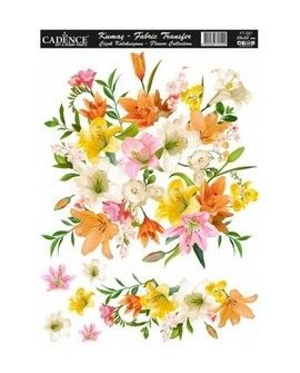 Transfer TELA 25x35 FLOWERS III