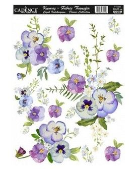 Transfer TELA 25x35 FLOWERS V
