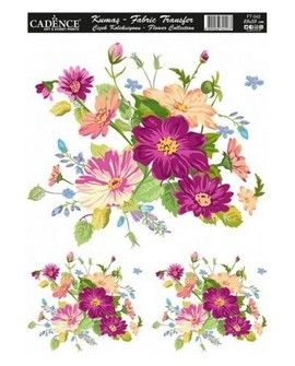 Transfer TELA 25x35 FLOWERS VII