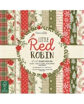 Littel Red Robin 30x30 papeles