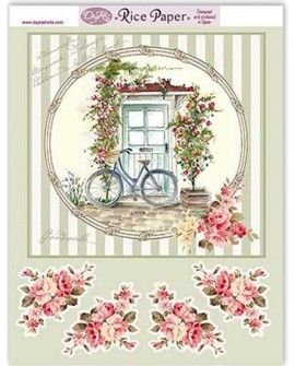 Papel arroz BICI Y FLORES RICE104