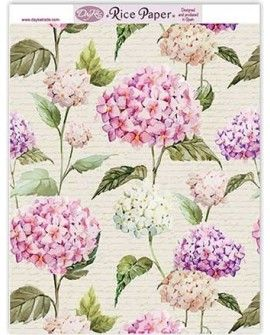 Papel arroz FONDO HORTENSIAS RICE115