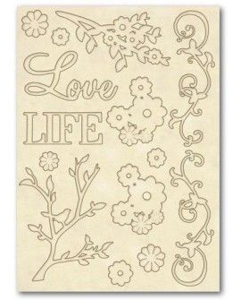 Wooden frames A5 size - Love & Life