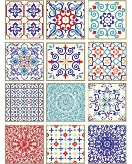 Papel arroz Cadence A3 TILES BALDOSAS MIX