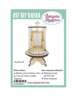 KIT DIY DAYKA PORTAFOTOS DECORATIVO COMUNIÓN NIÑO