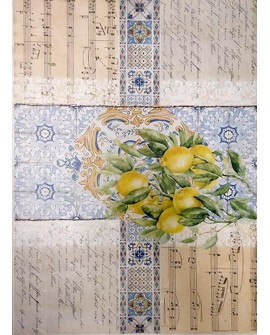 Papel arroz Cadence A3 COLLAGE LIMONES
