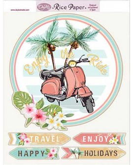PAPEL DE ARROZ VESPA HOLIDAYS