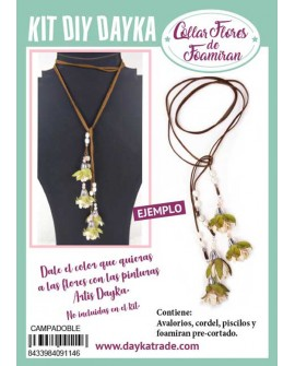 KIT DIY DAYKA COLLAR CAMPANILLA CORDÓN DOBLE