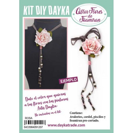 KIT DIY DAYKA COLLAR ROSA REAL