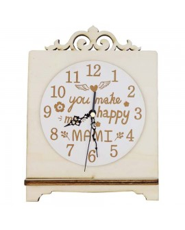 "RELOJ CON LETRAS ""YOU MAKE ME HAPPY MAMI"""