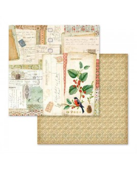 PAPEL SCRAP WINTER BOTANIC POSTALES 30,5x31,5 cm