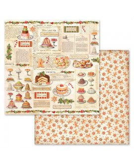 PAPEL SCRAP CHRISTMAS VINTAGE PATISSERIE 30,5x31,5 cm