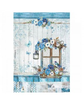 PAPEL DE ARROZ A4 BLUE LAND VENTANA