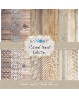 Papers For You NATURAL WOODS 12 uds