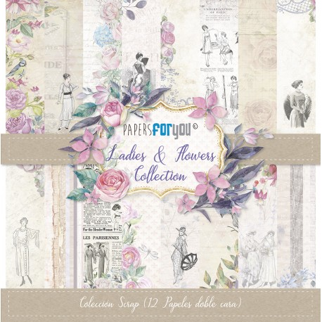 Papers For You LADIES AND FLOWERS 12 uds