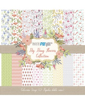 Papers For You BIG BANG FLOWERS 12 uds