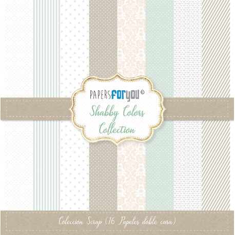 Papers For You SHABBY COLORS 16 uds