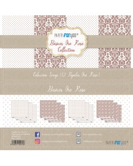 Papers For You BÁSICOS ORO ROSE 12 uds
