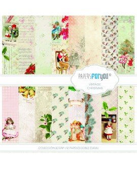 Papers For You VINTAGE CHRISTMAS 12 uds