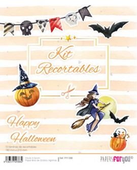 KIT RECORTABLES 15 PAPELES HAPPY HALLOWEEN