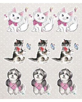 KIT RECORTABLES 15 PAPELES PUPPY LOVE