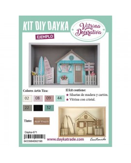 KIT DIY DAYKA VITRINA CONJUNTO PLAYA