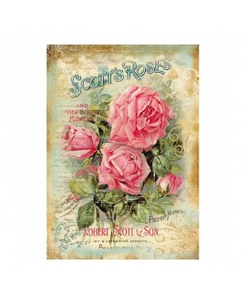 PAPEL DE ARROZ A4 SCOTT´S ROSAS