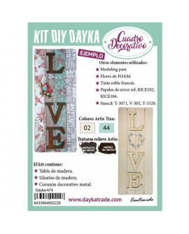 KIT DIY DAYKA TABLA LOVE