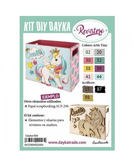 KIT DIY DAYKA REVISTERO INFANTIL UNICORNIO