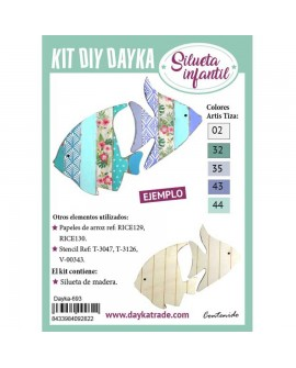 KIT DIY DAYKA PECES TROPICALES