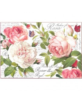 Papel de Arroz 48x33 Vintage Rose