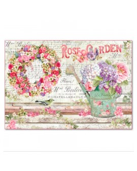 Papel de Arroz 48x33 Rose Garden