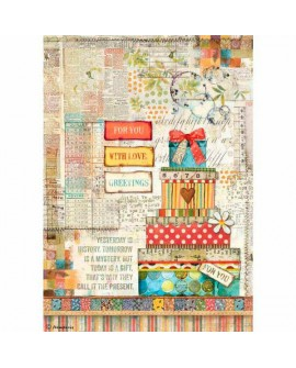 PAPEL DE ARROZ A4 Patchwork regalo