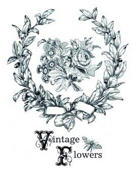 TRANSFERS HOME DECOR VINTAGE FLOWERS