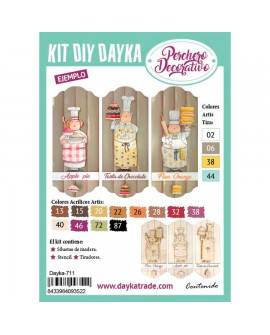 KIT DIY DAYKA TABLA PERCHERO PASTELERA